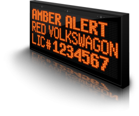 Amber Alert message with VCalmITS